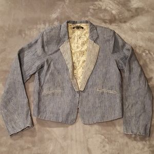 Light weight blue linen blazer