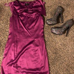 🎉🎉Party Time🎉🎉 Purple Satin Mini Dress