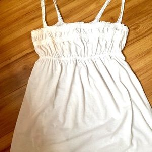 White Cotton Knit Tank Size Large NEver been worn