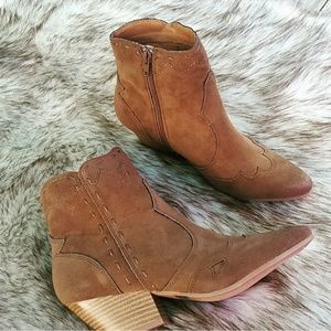 Shoes - LAST PAIR!! //The Frankie// Taupe Western booties