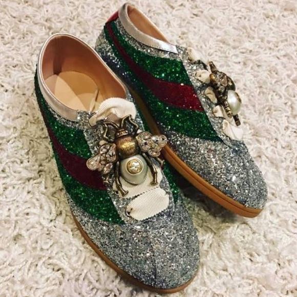 32db8e8a4 Gucci Shoes | Falacer Glitter Sneakers | Poshmark