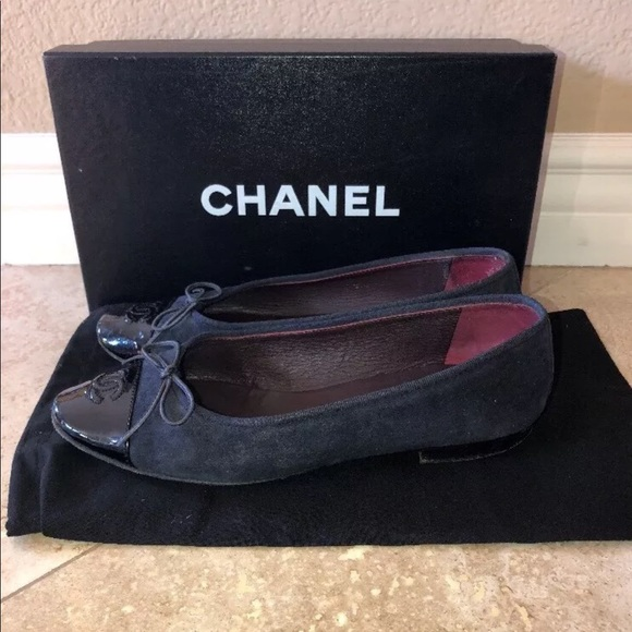 9a760ff04eee CHANEL Shoes | Ballet Flats Espadrilles 375 Navy Patent | Poshmark