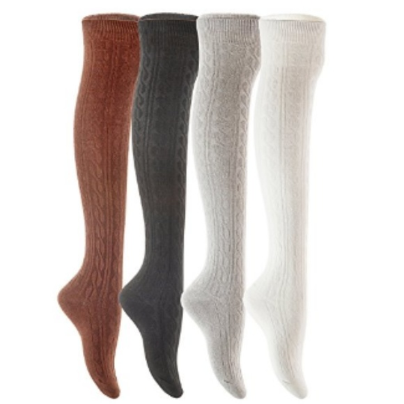 5ca3c213605ed C.C. Boutique Accessories | Sale 3 For 30 Thick Cable Knit Thigh ...