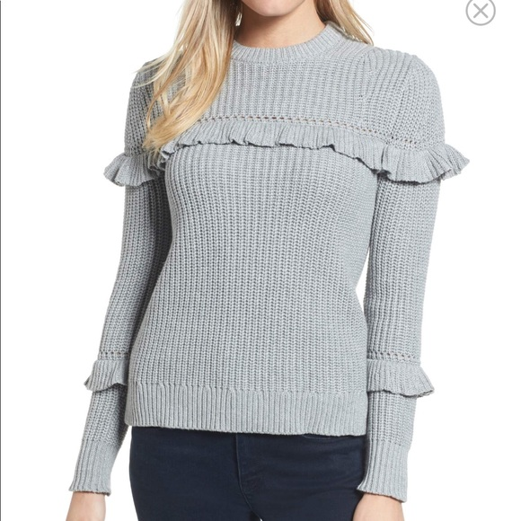 Michael Michael kors ruffle cotton sweater b9cfcb701