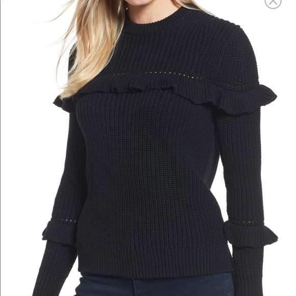 Michael Michael kors ruffles cotton sweater d7034e29f