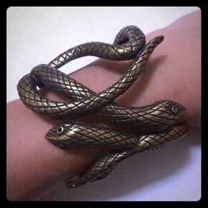 Brass Snake Cuff, Like New