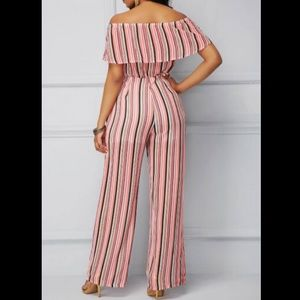 NWT NY&CO Off the Shoulder Striped Bodysuit