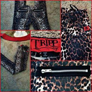 Tripp NYC Skinny Leopard Jeans