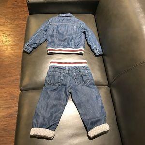 91889b943 Gucci Jackets & Coats - Gucci baby boy soft denim jacket & jeans ...