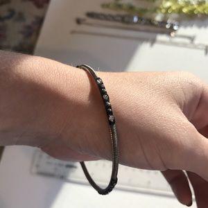 Jewelry - Silver black crystal bangle