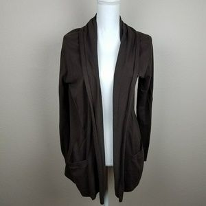 Michael Kors Dark Brown Coffee Cardigan Sweater L
