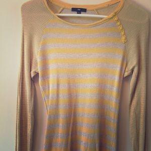✌️Gap l/s light striped Sweater ac/but
