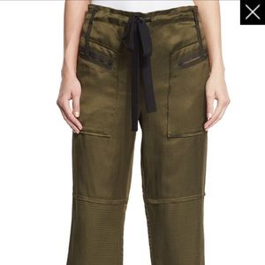Elizabeth and James bode pants in military green