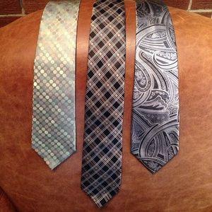 Men's 100% Silk Tie Bundle