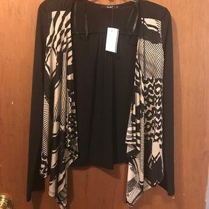 Black and Tan cardigan