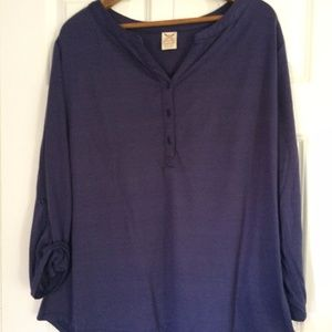 Faded Glory Plum Drapey Tunic Plus Size