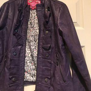 109868f498fb6 Dollhouse Jackets   Coats - Girls jacket size 16 Dollhouse purple with  ruffles
