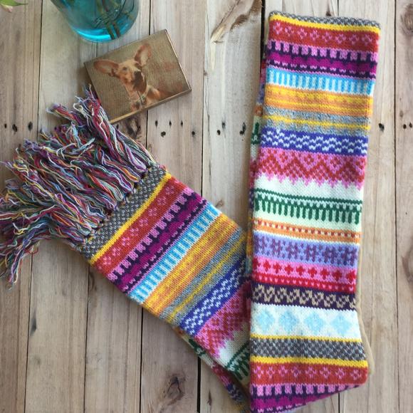 GAP - GAP Fair-Isle Multicolored Lamb's Wool Scarf from ! susan's ...