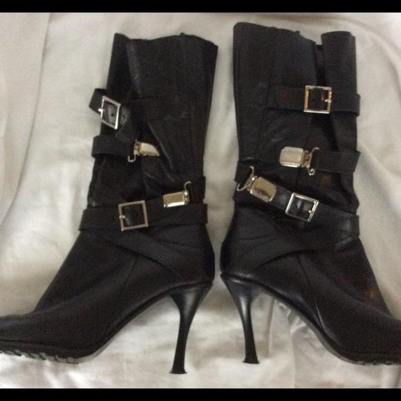 bd6ba5c3a252 Kurt Geiger Carvela Shoes - Carvela Kurt Geiger Black leather strap boots 37