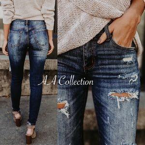 Jeans - Distressed jeans denim skinny 0-15