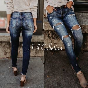 Jeans - distressed jeans denim skinny