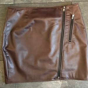 Dolce Vita Faux Leather Mini Skirt