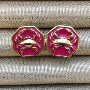 💗💗Lilly Pulitzer Pink Crab Earrings💗💗