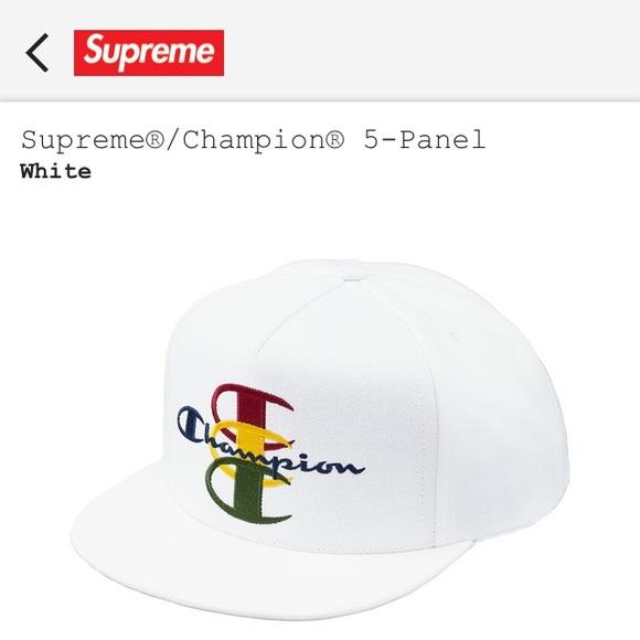 a1c0e7ef02b Supreme Champion 5 Panel Snapback