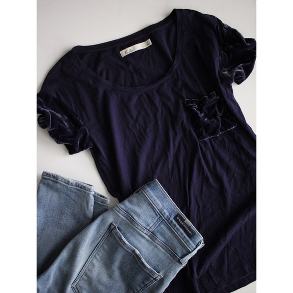 Madewell Tops - Madewell Velvet Sleeve and Pocket tee