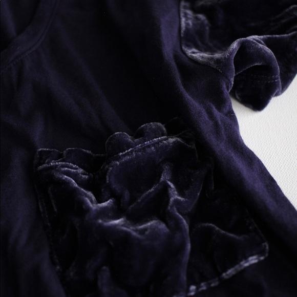 Madewell Tops - Madewell Velvet Sleeve and Pocket tee