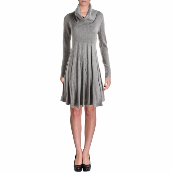 e8a7f7ca5e80c Calvin Klein Dresses | New Cowl Neck Fit Flare Sweater Dress | Poshmark