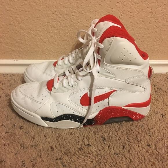 Nike Air Force 180 High White Red Black