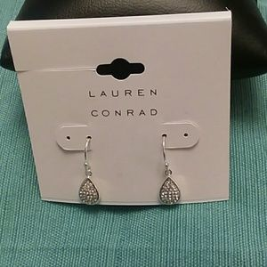 NWT Lauren Conrad wire silver tone earrings studs