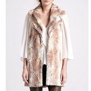 Alice and Olivia faux fur vest M