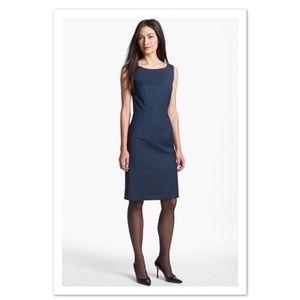 Hugo Boss Navy Blue Sheath Dress