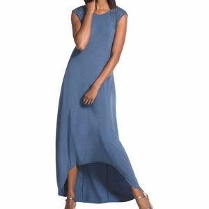 NWOT Chico's Lattice-Shoulder Maxi Dress