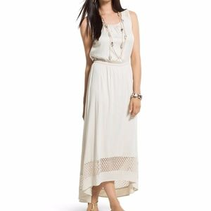 NWT Chico's Lace Detail Ariel High-Low Maxi Dress