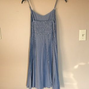 Old Navy Dresses Fit And Flare Blue Gingham Cami Dress