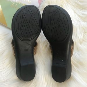 9b9af27f871 Marc Fisher Shoes - Marc Fisher Amina Thong Sandal Bronze Size 7.5