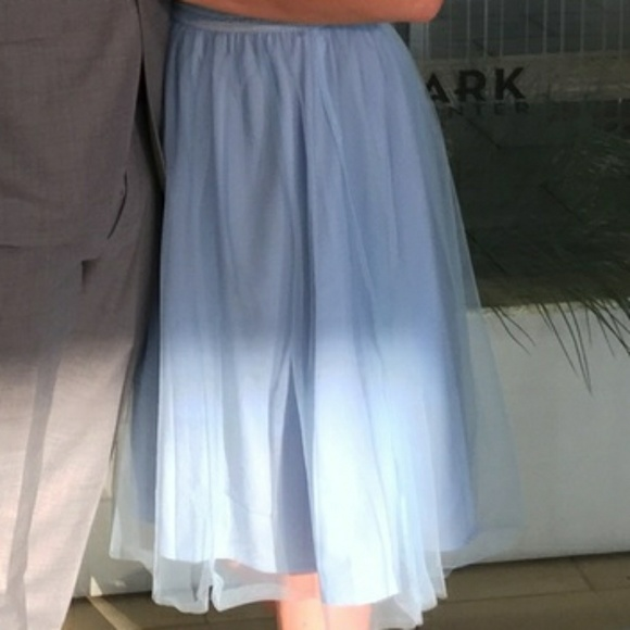 53ad8d66b Francesca's Collections Skirts | Francescas Baby Blue Tulle Midi ...