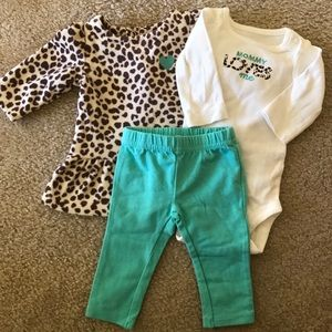 Just One You By Carters 3 Piece Outfit
