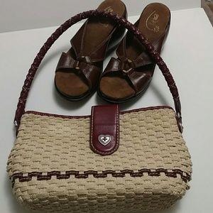 Brighton Woven & Leather Handbag Purse