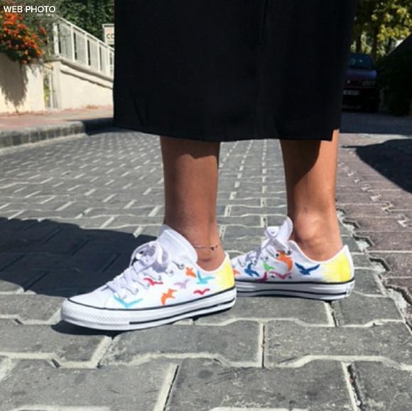 9751393de7aea9 Converse Shoes - CONVERSE Mara Hoffman Embroidered Birds Low Top