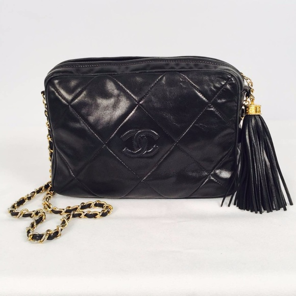 9d0d7a69a0a6 CHANEL Handbags - AUTHENTIC CHANEL BLACK LAMBSKIN QUILTED CAMERA BAG