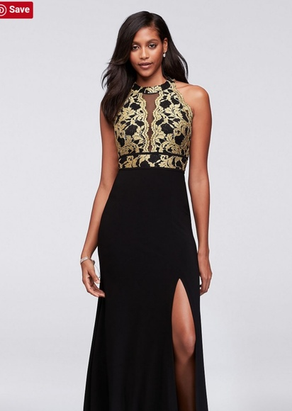 Night Way Collections Dresses Black Gold Formal Gown Poshmark