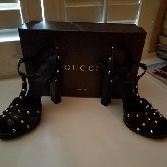 137b4a747ea6 Gucci Jacquelyn Studded Heels