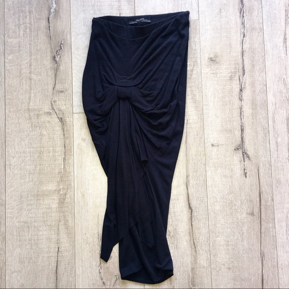 All Saints Dresses   Skirts - ALLSAINTS Draped Knot Jersey Skirt f290fe845