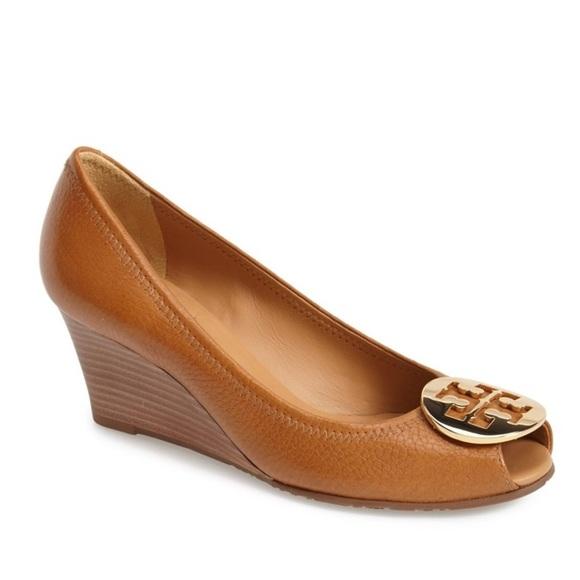 8dbd1aae750 Tory Burch Sally 2 Tumbled Leather Royal Tan Heels.  M 5a039316fbf6f9ad4f00396d