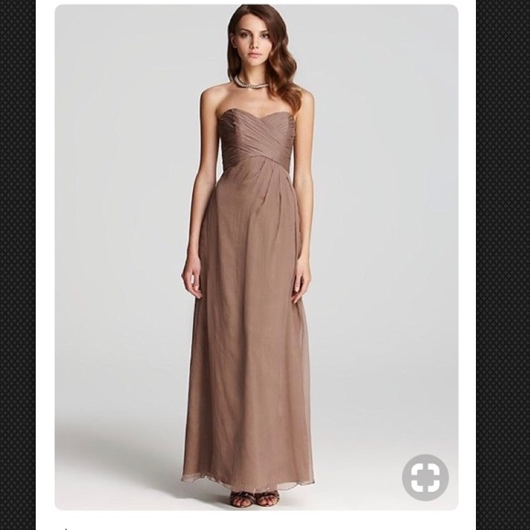 9c27197631 New Amsale taupe bridesmaid prom dress size 0