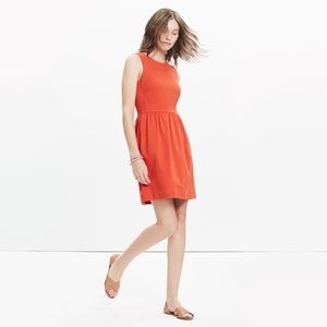 Madewell Fit and Flare Afternoon Dress in Red